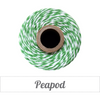 Bakers Twine - Twisted Peapod Green and White Twine Spool - Get Creative!