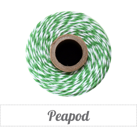 Bakers Twine - Twisted Peapod Green and White Twine Spool