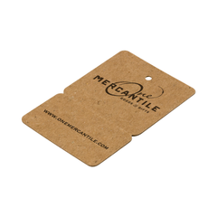 Custom Perforated Price Tags - Brown Kraft Recycled