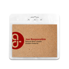 ReBadge Biodegradable Badge Holders (125 Units) - Guided  - 10