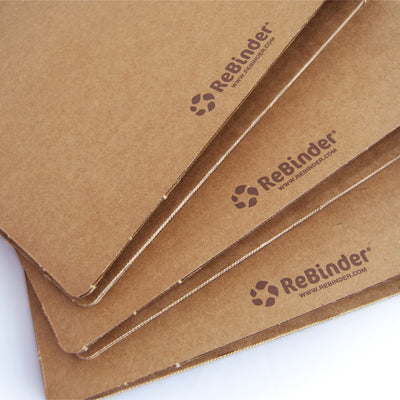 "2"" ReBinder Original Recycled Binders - Printed Guided Branding on Back of Biner"