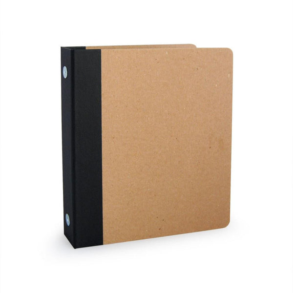 "1"" ReBinder Professional Mini Recycled Binder - Recycled Chipboard"