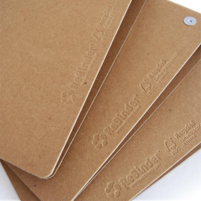 "1.5"" ReBinder Select Recycled Binders - Guided Branding Deboss on Back of Binder"