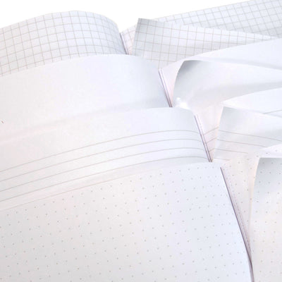 "Foil Stamped Notebooks - 3.5"" x 5.5"" ReWrite - Four Paper Types, Perforated pages"
