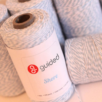 Bakers Twine - Twisted Shore Light Blue and White Twine Spool - Pair with other pastel twines