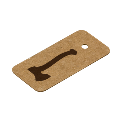 Printed Jewelry Tags - Brown Kraft
