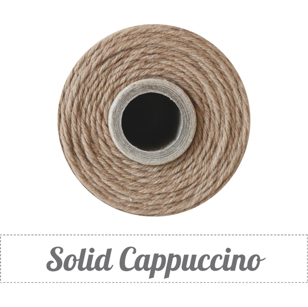 Bakers Twine - Solid Cappuccino Brown Twine Spool