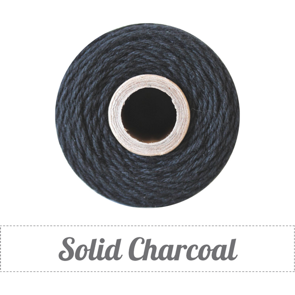 Bakers Twine - Solid Charcoal Black Twine Spool