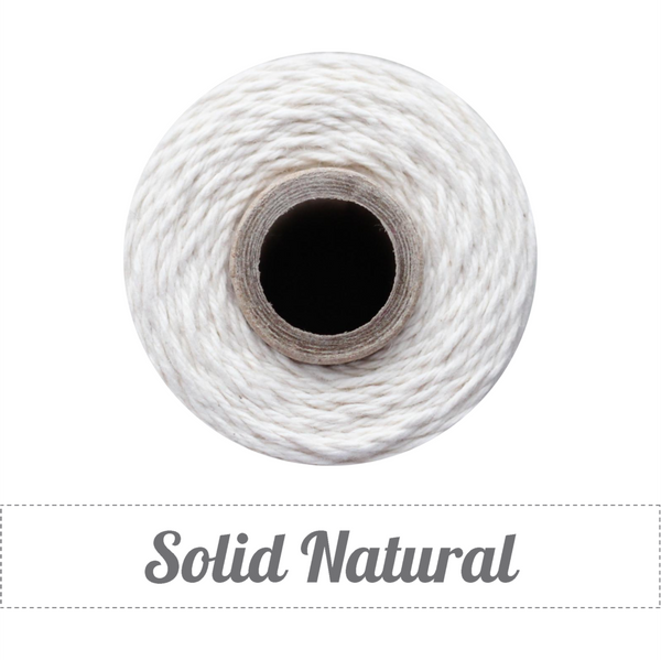 Bakers Twine - Solid Natural White Twine Spool - Classic White