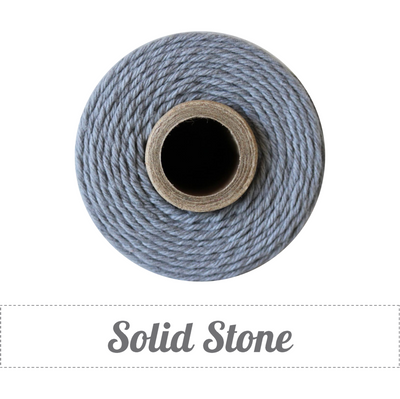 Bakers Twine - Solid Stone Gray Twine Spool - Subtle Stone