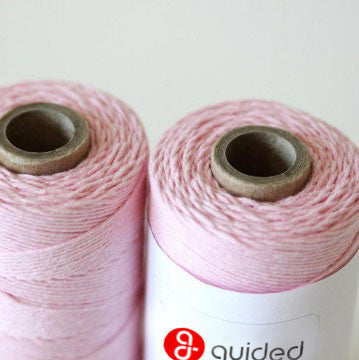 Bakers Twine - Solid Blossom Pink Twine Spool - Made in USA