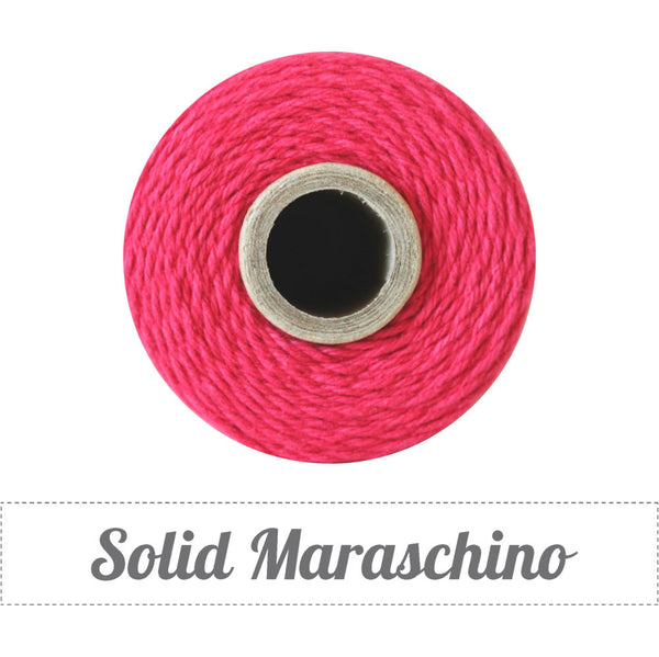 Bakers Twine - Solid Maraschino Solid Red Twine Spool