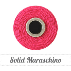 Bakers Twine - Solid Maraschino Solid Red Twine Spool - DIY Packaging