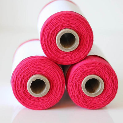 Bakers Twine - Solid Maraschino Solid Red Twine Spool - 240 Yard Spools