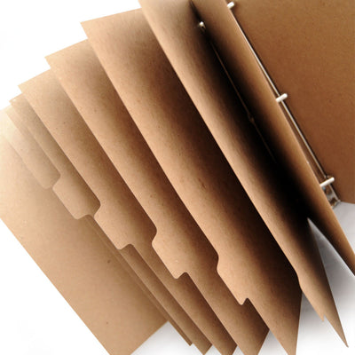 Custom Printed Binder Dividers - ReTab 8-Tab - 13pt Natural recycled chipboard