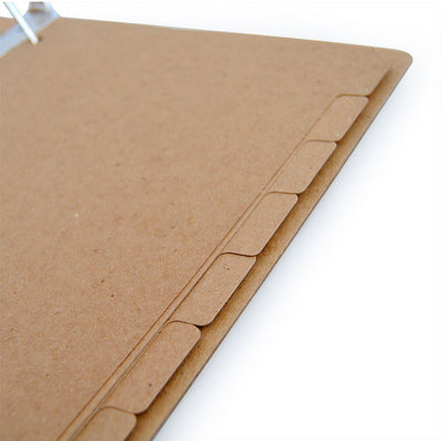 Custom Printed Binder Dividers - ReTab 8-Tab - Brown Kraft