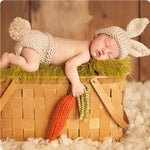 Load image into Gallery viewer, Wool Crochet Newborn Bunny Costume