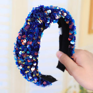 Fashion Designer's Crystal Patchwork Hairband