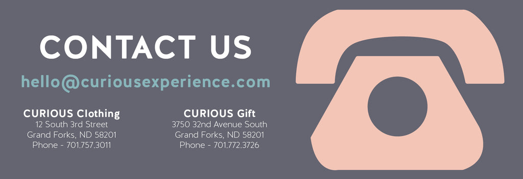 Contact Us | CURIOUS Gift | CURIOUS Clothing