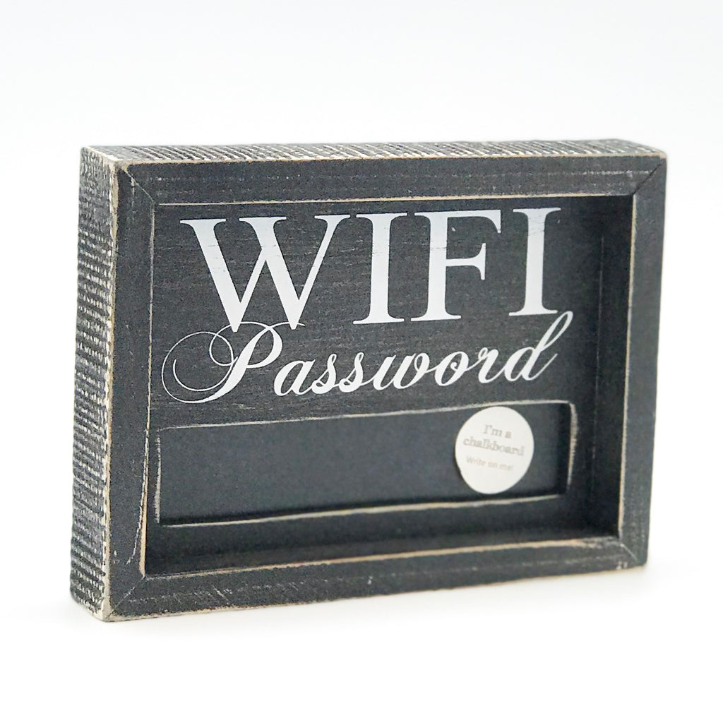 WiFi Password Chalkboard Sign