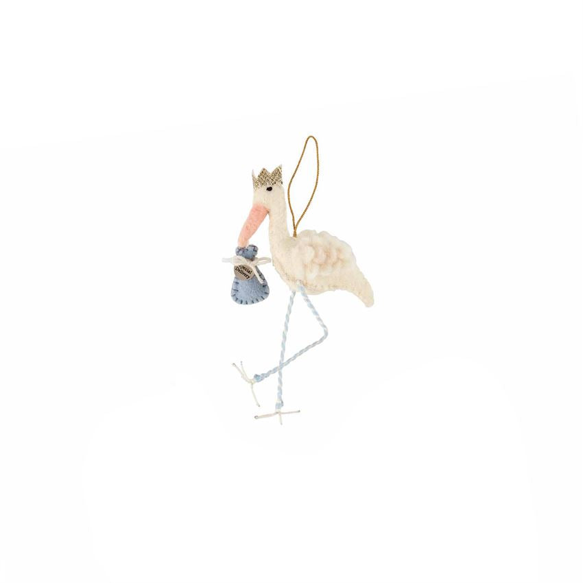 Blue Stork Ornament