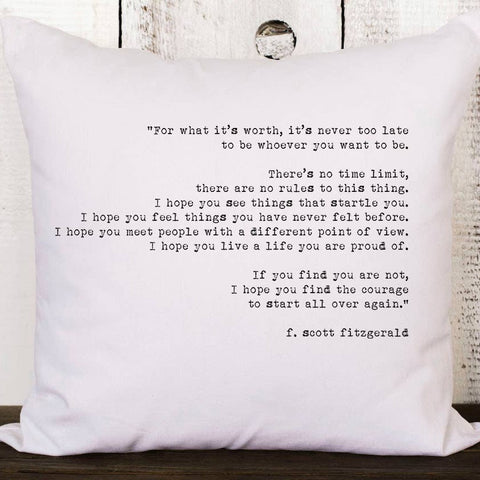 What It's Worth Pillow