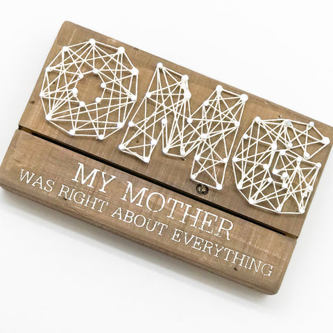 OMG String Art Sign