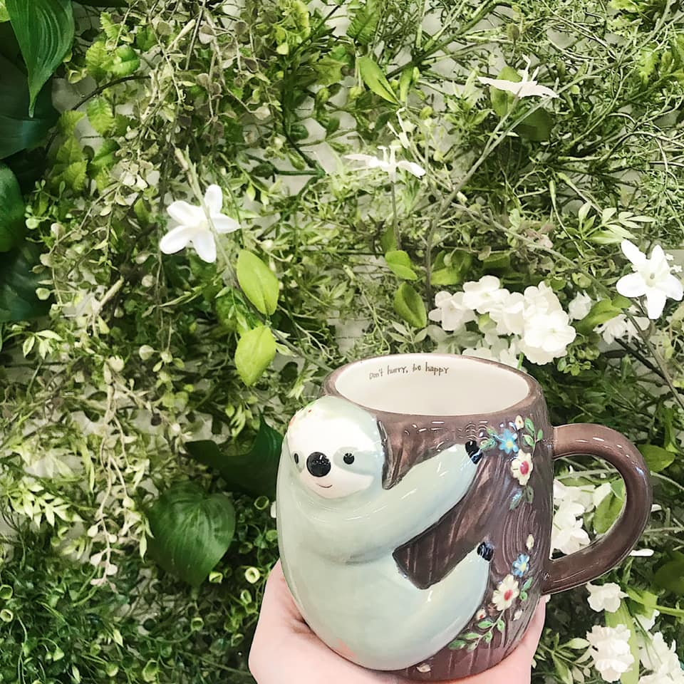 Folk art mug/Sloth