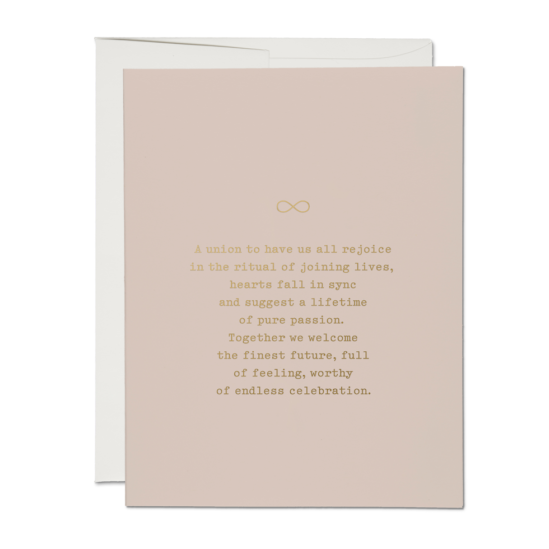 Joining Lives Wedding Card