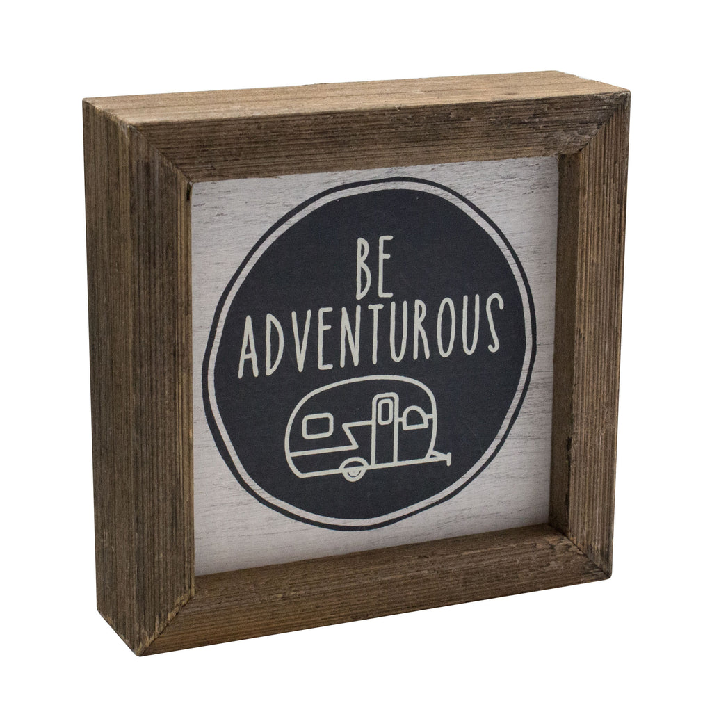 Adventurous Camper Box Sign