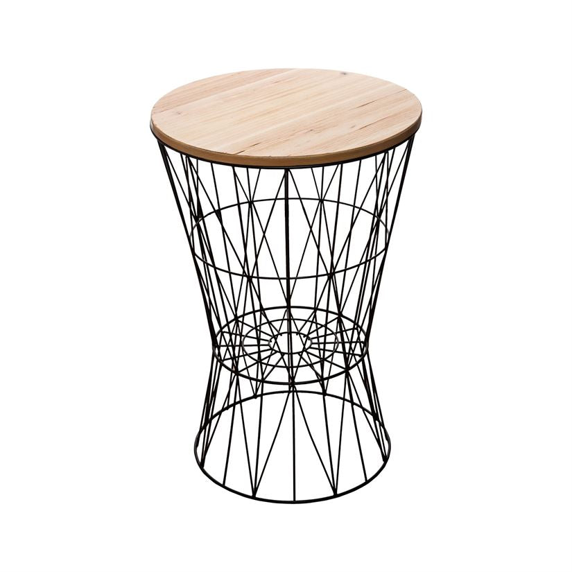 Wire Basket Table