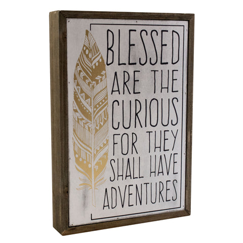 Blessed Are The Curious Box Sign