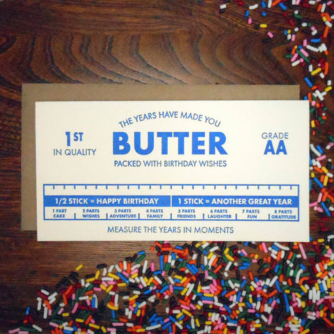 Butter Birthday Card