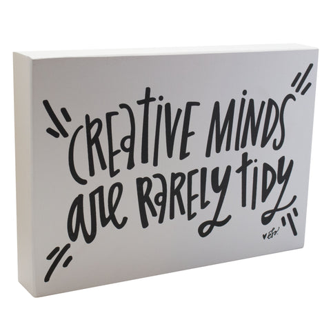Creative Minds Box Sign