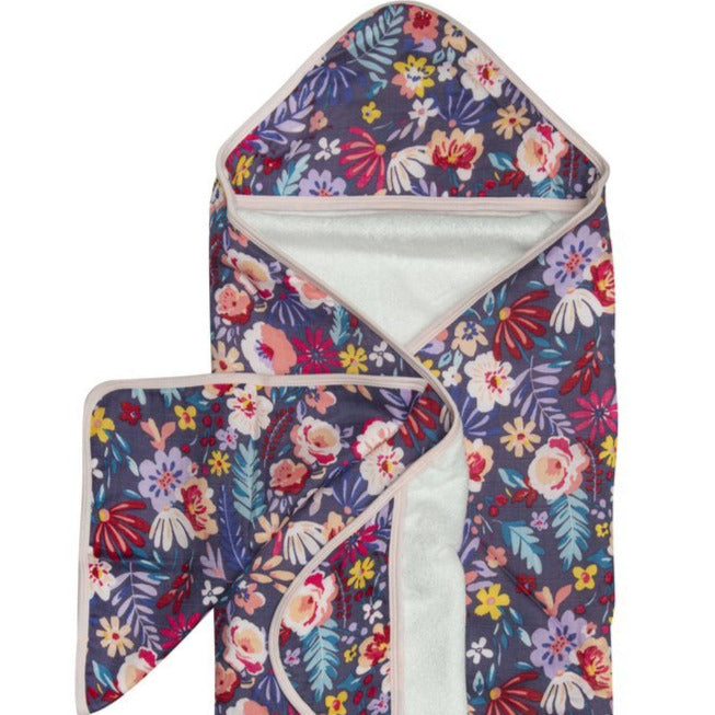 Flower Hooded Towel Set