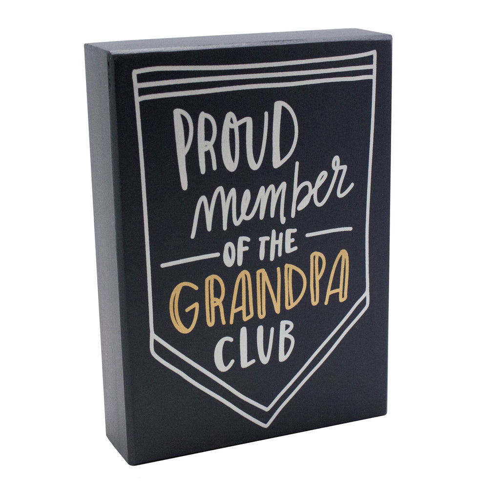 Grandpa Club Box Sign