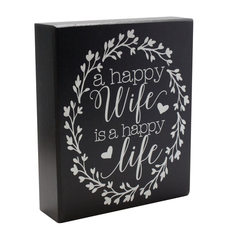 Happy Wife Box Sign