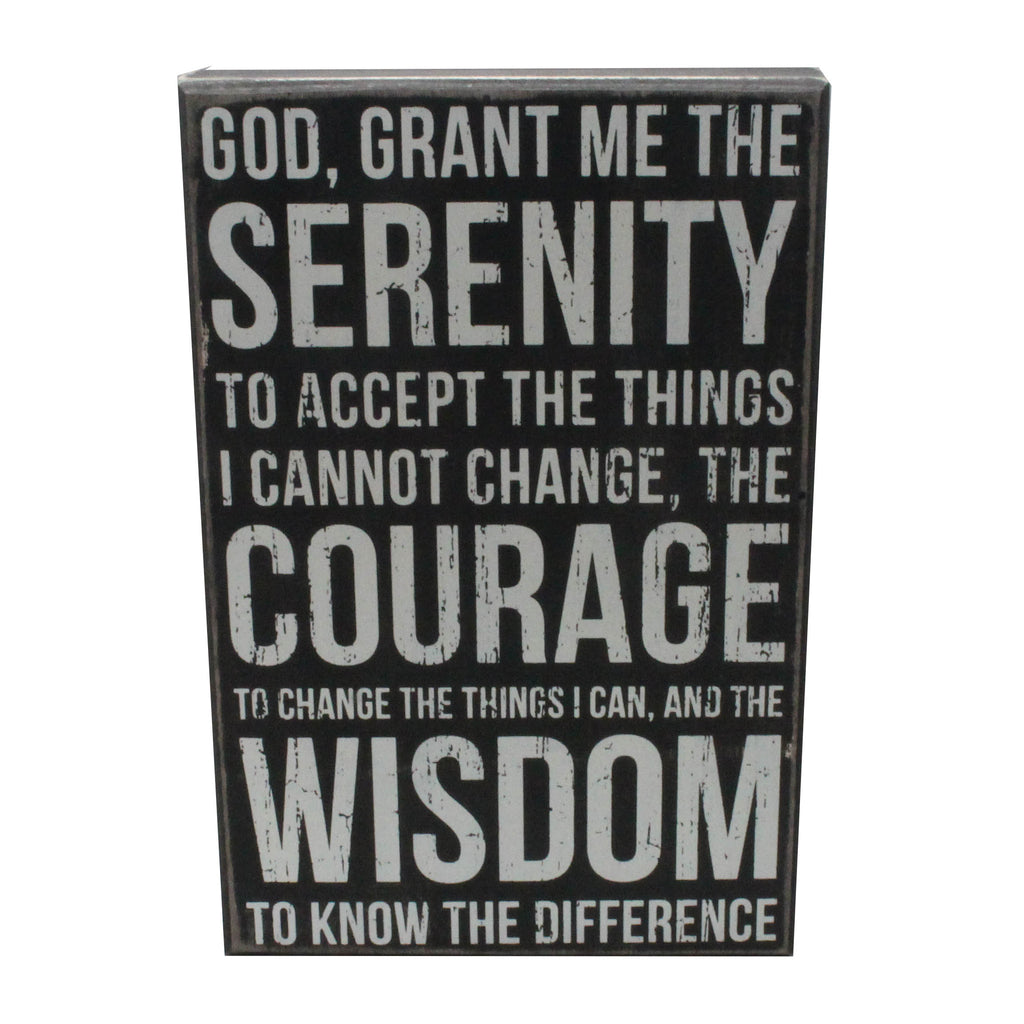 Serenity Prayer Box Sign