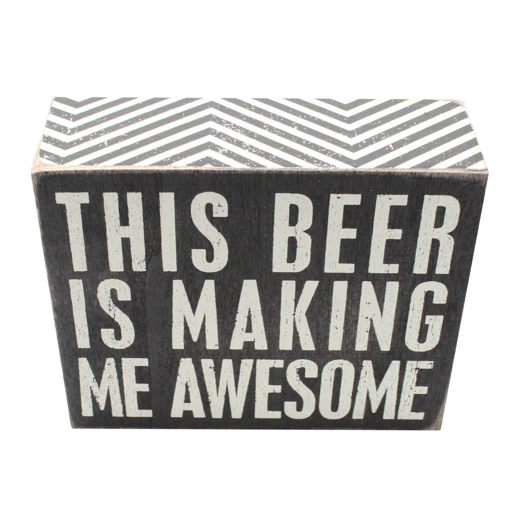 beer box sign