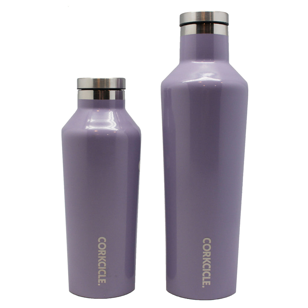 hot cold water bottle purple