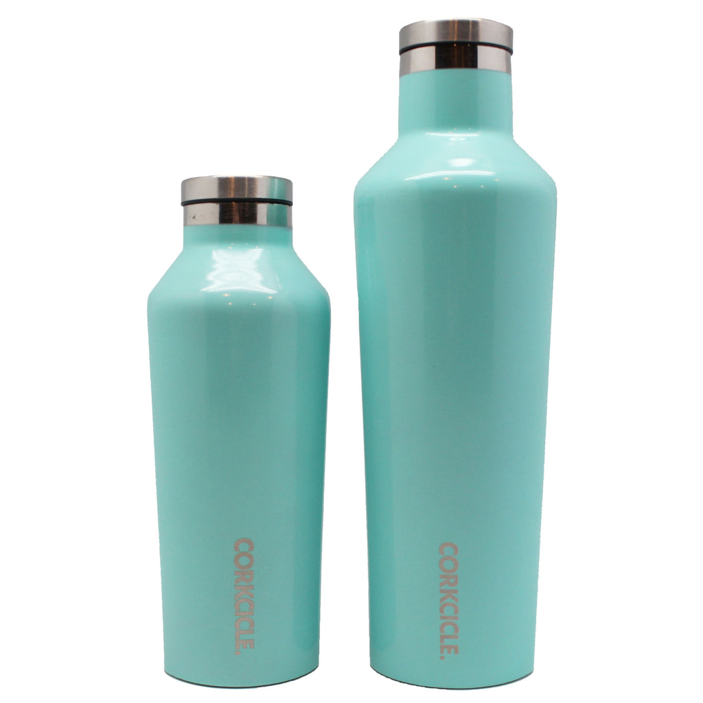 hot cold water bottle blue