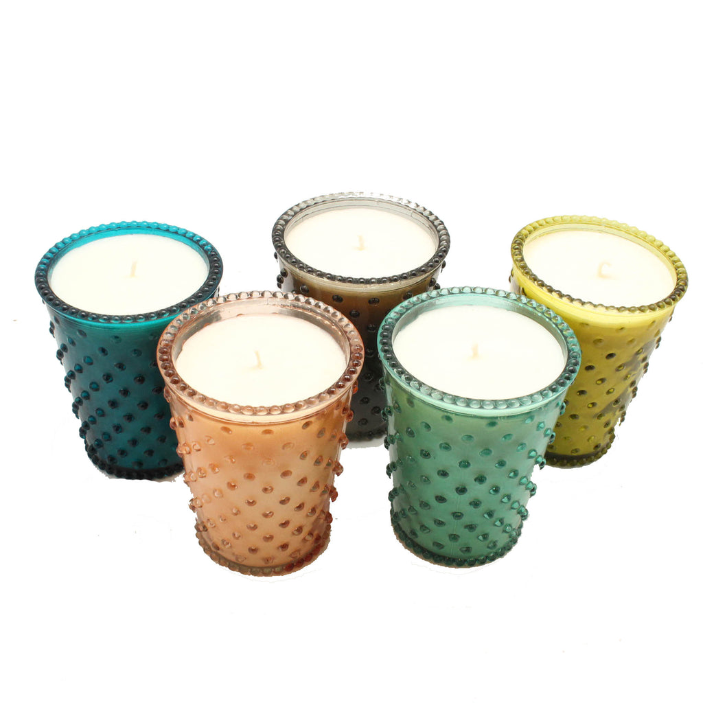 Hobnail Glass Candles