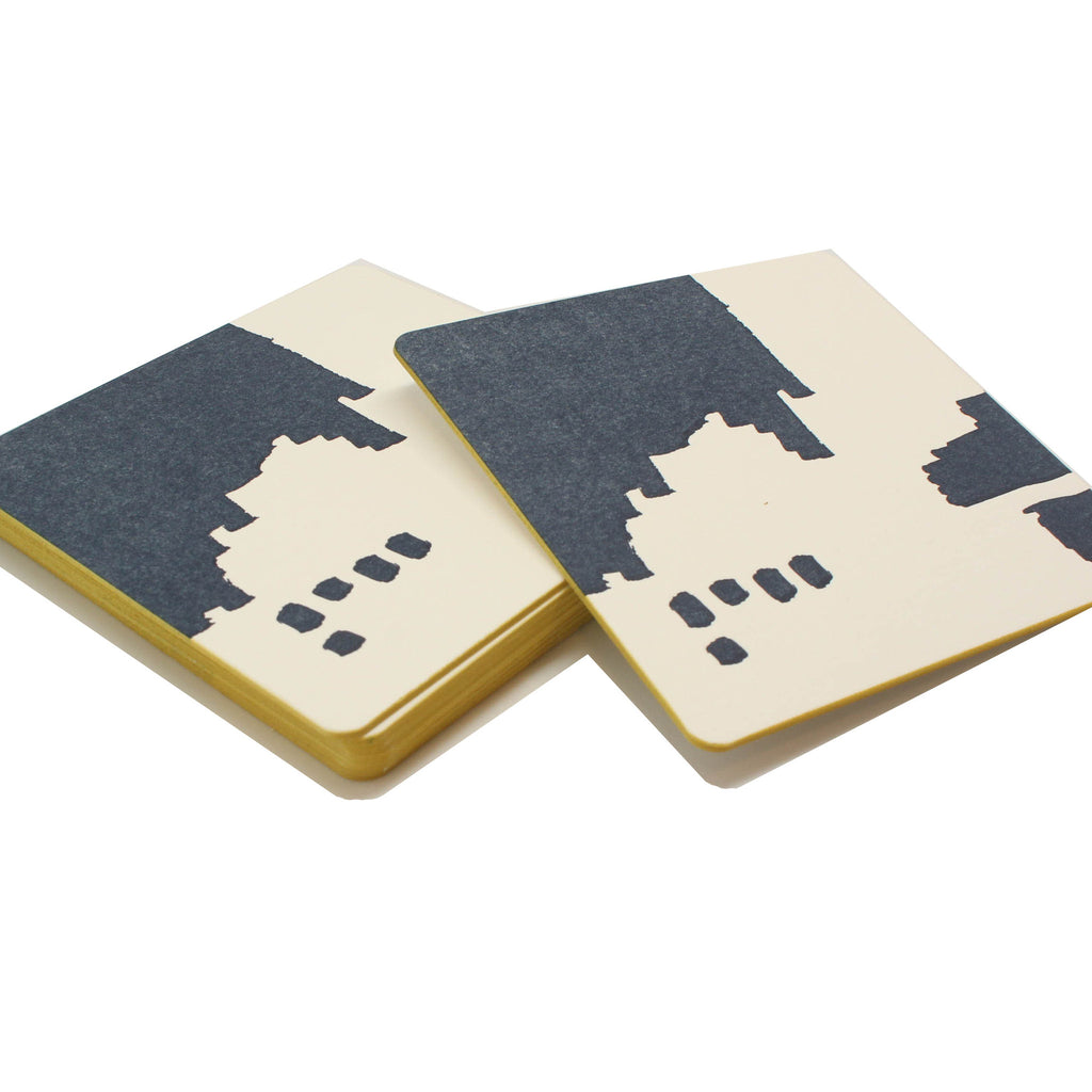 green and blue cocktail coasters