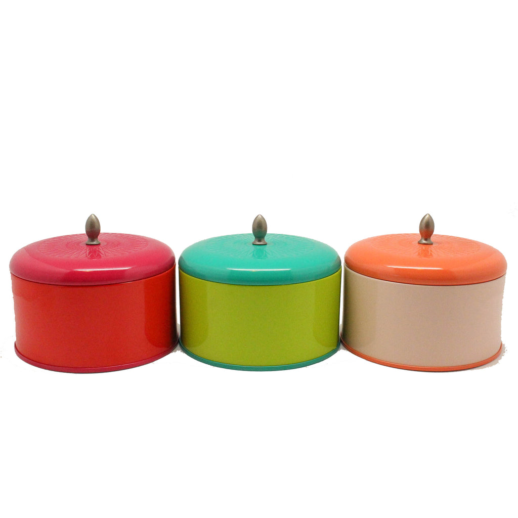 Large tin candles