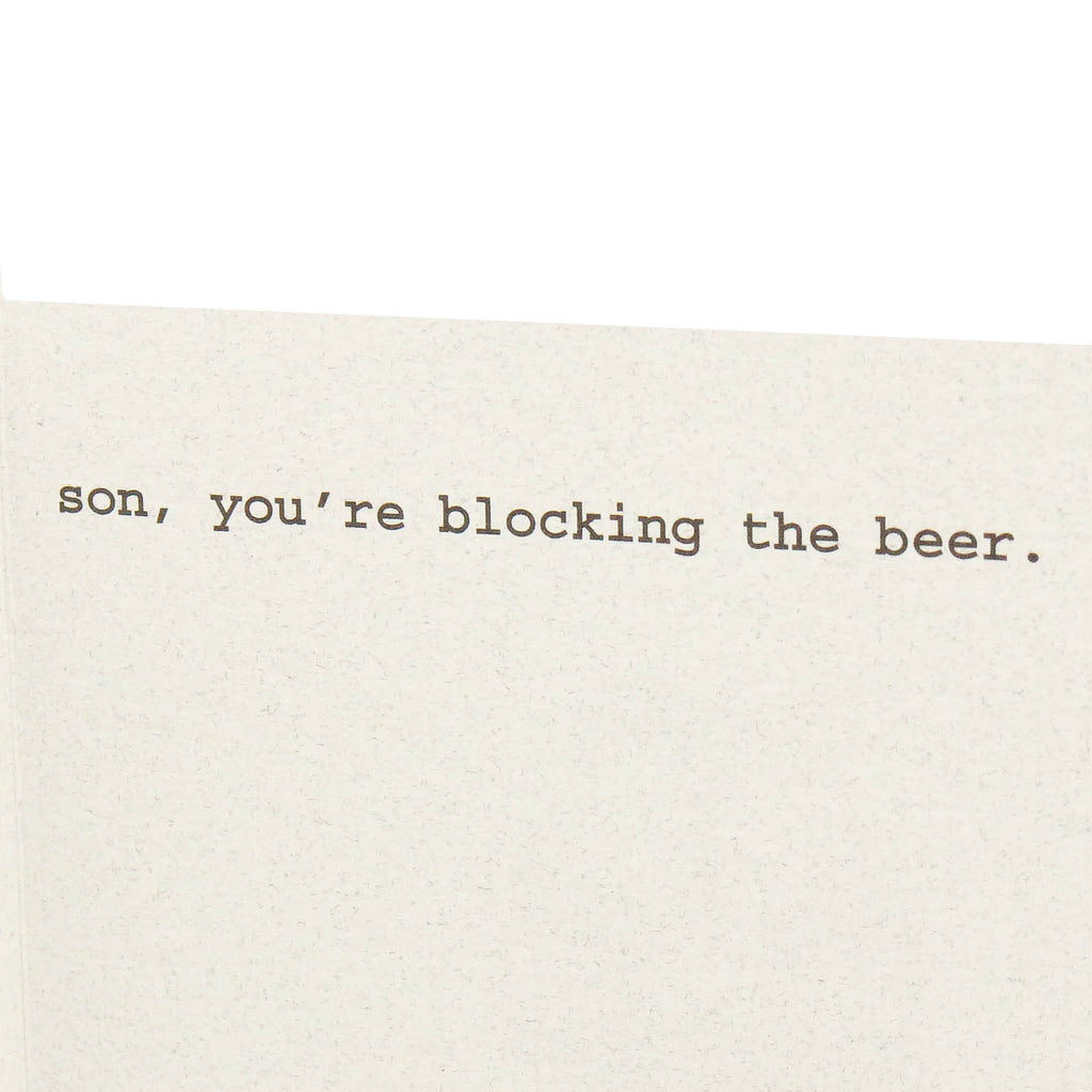 Blocking the Beer Card