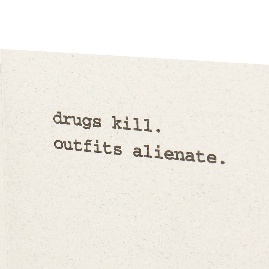 Drugs Kill Card