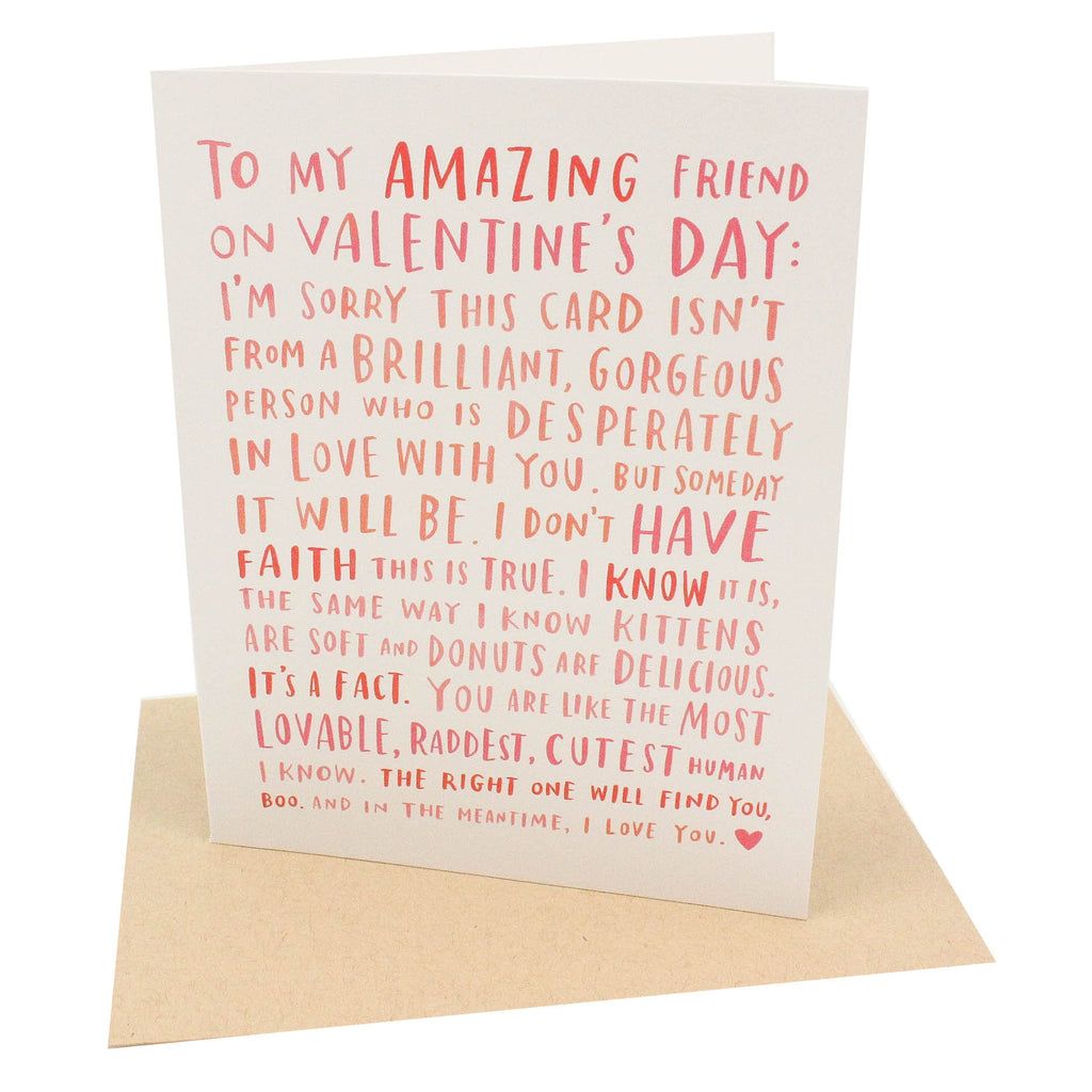 Amazing Single Friend Card
