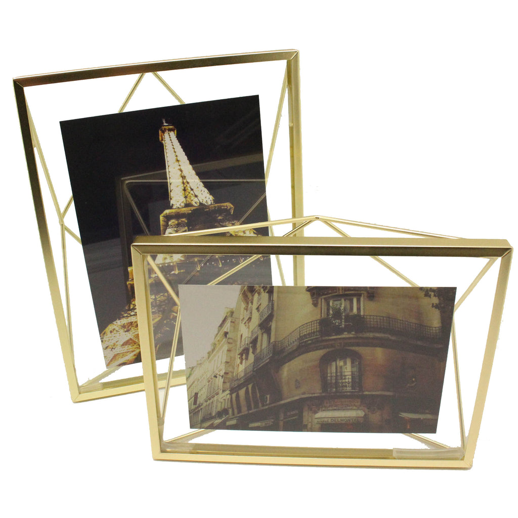 Gold Geometric Photo Display