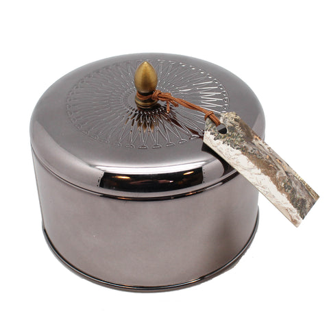 Tin Woodfire Candle