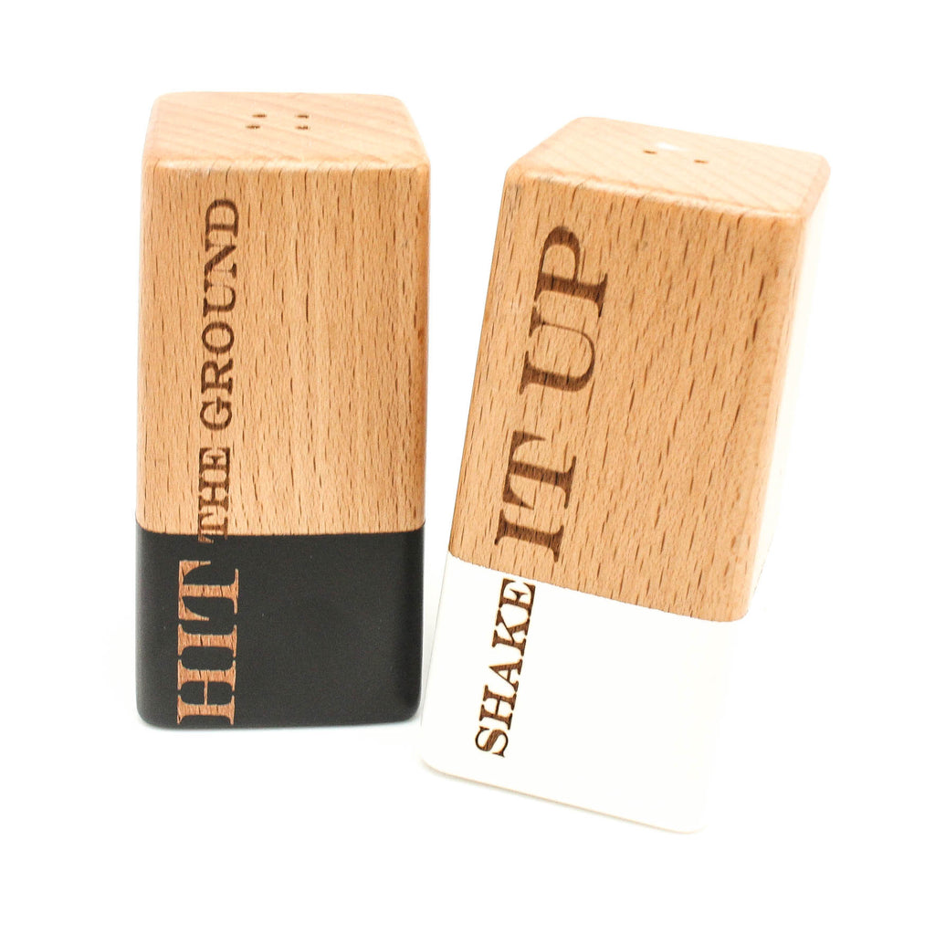 Beechwood Salt and Pepper Shakers